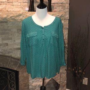 St Johns Bay size xl green tunic